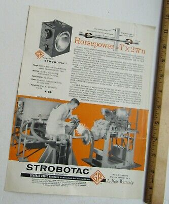 Reference Brochure For The Strobotac Light Type631-bl General Radio Company