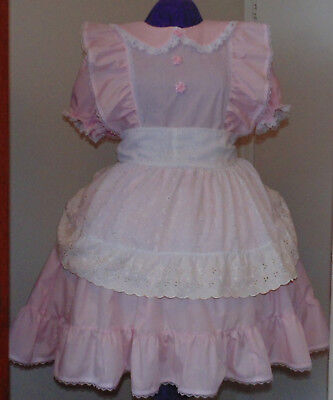 Heavenly Pink Dress and Apron Adult Baby Sissy Custom Aunt (Custom D D Kostüme)