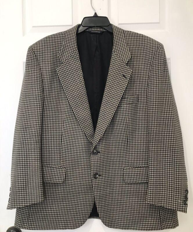 Mens Vintage BURBERRYS  Wool Houndstooth Sports Blazer Jacket