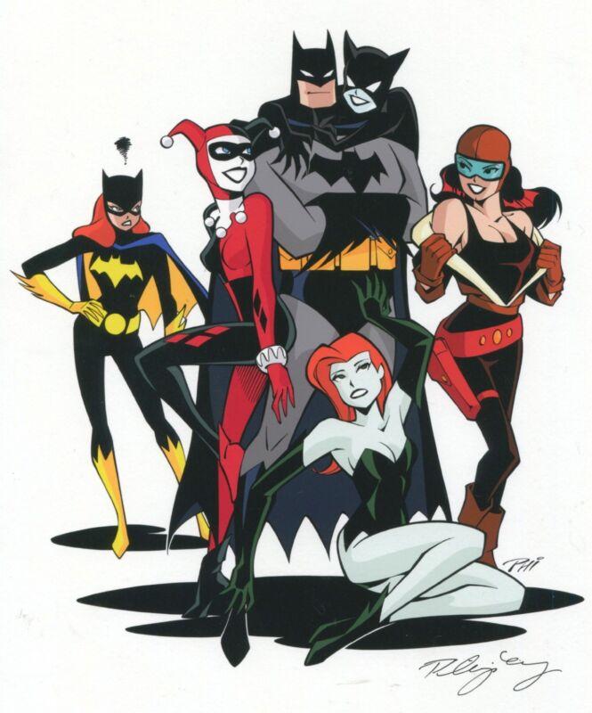 Batman Poison Ivy Harley Quinn Catwoman Roxy Rocket Batgirl Signed 8.5x11 Print