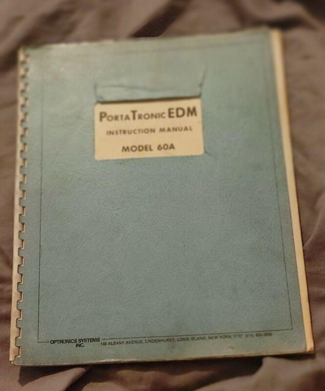 Portatronic EDM Instruction Manual -- Model 60A