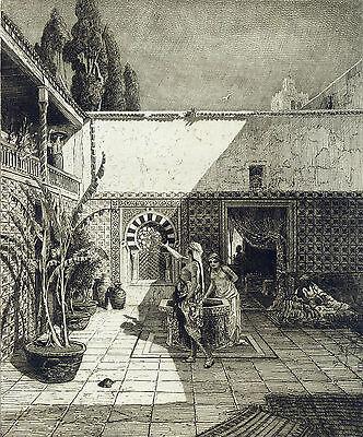 Arabisches Wohnhaus in Tunis, Ludwig Hans Fischer, 1877
