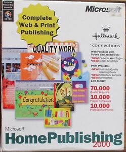 MICROSOFT HOME PUBLISHING 2000 COMPANION MANUALl PC & 3CDs NEW Kambah Tuggeranong Preview
