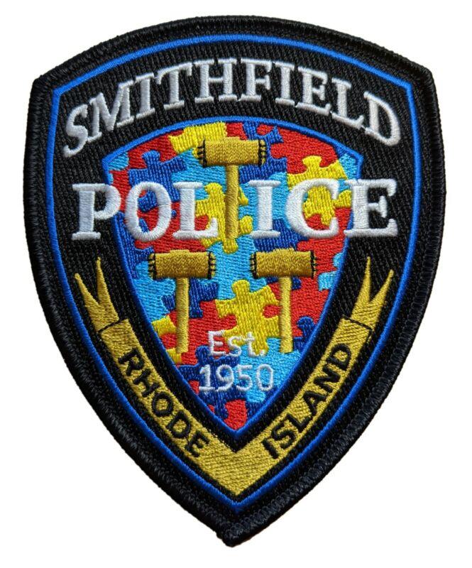 Smithfield RI Police Autism Awareness Patch - Gold version 2021