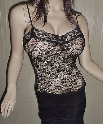 Lace Sheer Camisole - Women's all Lace sheer Camisole spaghetti strap top Layering sexy Feminine Tank