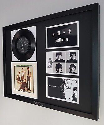 The Beatles Original Framed Rare Let It Be Vinyl John Lennon Paul McCartney
