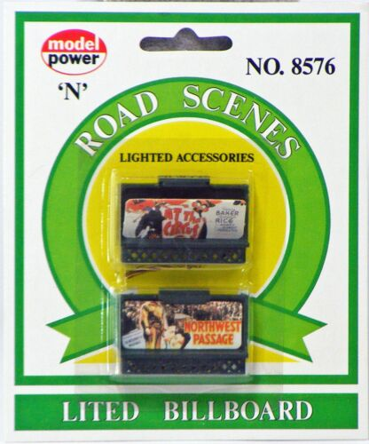 Model Power N Scale Lighted Billboards