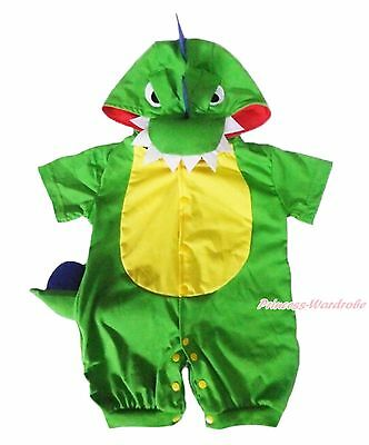 Dinosaur Cartoon Baby Outfit Halloween Jumpsuit Party Costume Romper NB-18Month