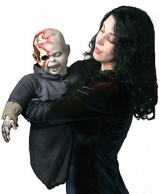 Halloween ZOMBIE BABY ZACK PUPPET LATEX DELUXE Prop Haunted House NEW  - Halloween Zombie Baby Prop