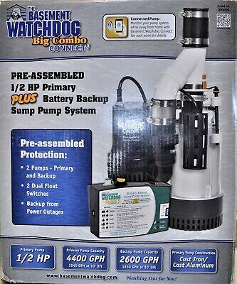 Basement Watchdog Big Combo Connect 12-hp Sump Pump System Bw4000