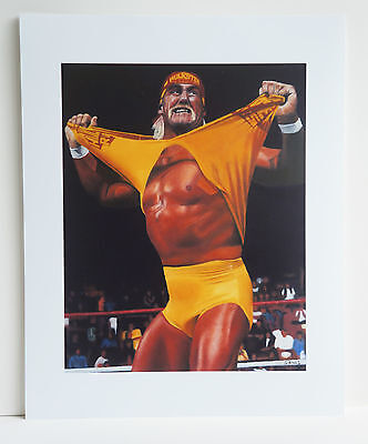 "10 x 8 inch print of ""Hulk Hogan"" oil on canvas painting"