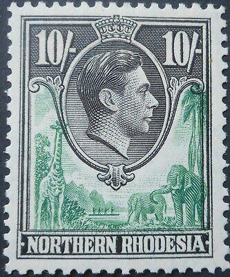 North Rhodesia 1938 GVI Ten Shillings SG 44 mint