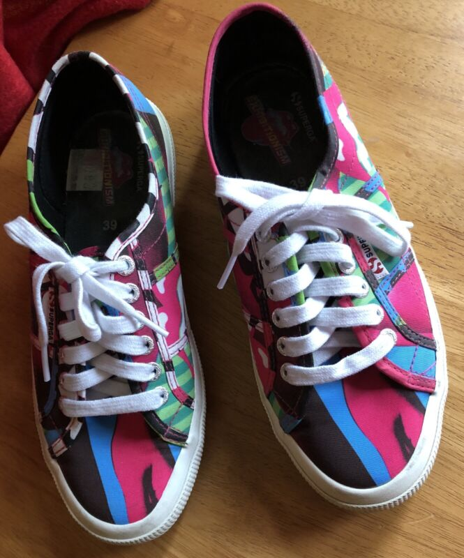 Superga Rolling Stones Exhibitionism Sneakers U.S. Size 8 (Trainers)