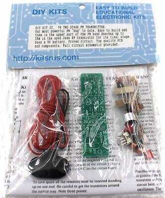 DIY KIT 32  -  2-Stage FM Transmitter Kit  - Requires Assemb