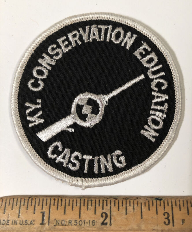 Vintage Kentucky Conservation Education Patch Casting Fishing