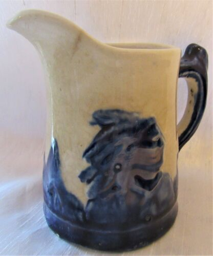 "Antique Early Monmouth Sleepy Eye Indian Cream Pitcher 4"" Tall"