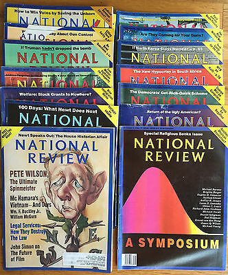 National Review Magazine Single Issue S  For Sale From The 1980S To Early 2000S