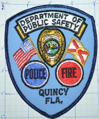 FLORIDA, QUINCY PUBLIC SAFETY POLICE DEPT FIRE RESCUE VINTAGE PATCH