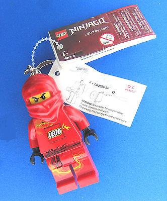 Lego Ninja go Led Key Light Keychain Keyring Flashlight Red NWT