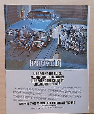 1964 magazine ad for Oldsmobile - Jetstar 88 rides the Dynamoeter at GM Testing