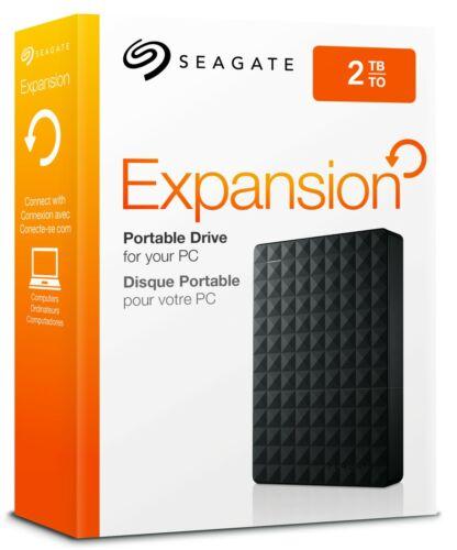 Seagate Expansion 2TB USB 3.0 Portable External Hard Drive XBOX PS5 PC HDD 2 TB