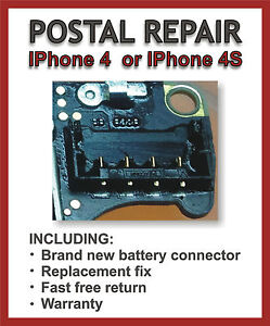 replace battery iphone 4s apple iphone 4 or 4s battery connector replacement repair 1582