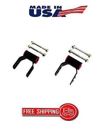 "CHEVY SILVERADO C1500 67-06 REAR LIFT KIT 1"" OR 2"" ADJUSTABLE SHACKLES 2WD HW"