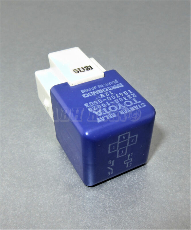 86-Toyota Lexus 4-Pin Purple Starter Relay Denso 28300-10020 156700-0503 Japan