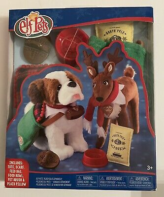 NEW ELF ON THE SHELF Pets Good Tidings Toy Tote & Scarf Accessories Set