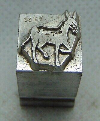 Vintage Printing Letterpress Printers Block Donkey Animal 12 X 12