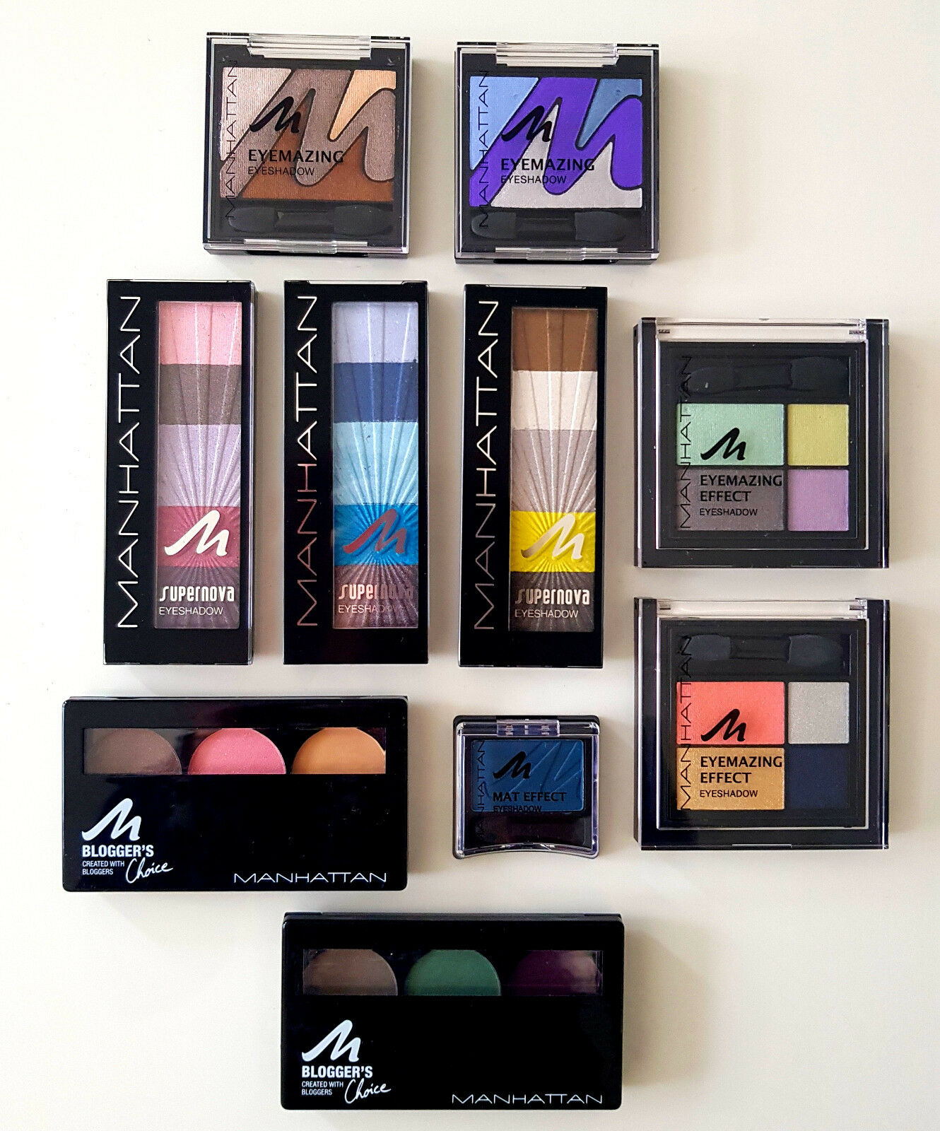 "Manhattan Eyemazing Supernova Blogger""s Matt Lidschatten Eyeshadow ver. Farben"