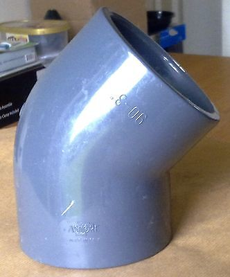 Astore Solvent Weld - 90mm Pressure Pipe - 45 Degree Elbow (PVC)