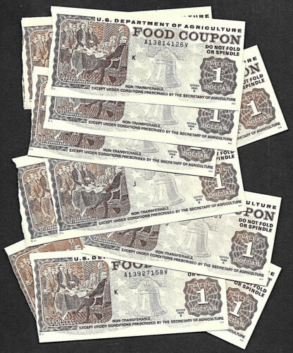 Food Stamps Coupon SERIES 1994 1991 1998 B  USDA scrip wellfair money ONE COUPON