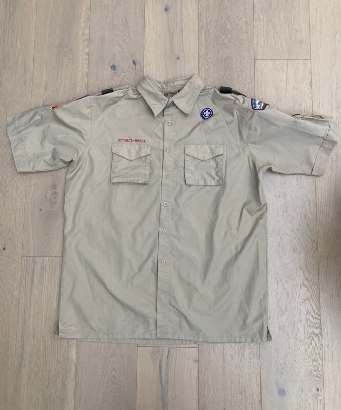 BSA BOY SCOUTS Of America Uniform Shirt VENTED Polyester Scout Adult XL