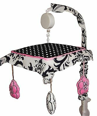 Musical Mobile - Rose Damask by -