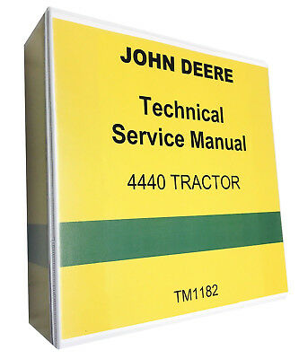 John Deere 4440 Tractor Technical Repair Service Shop Manual With Binder New