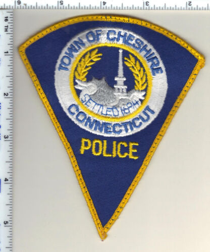 Town of Cheshire Police (Connecticut) Uniform Take-Off Shoulder Patch from 1990