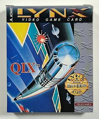 Qix For Atari Lynx Handheld System  - Complete
