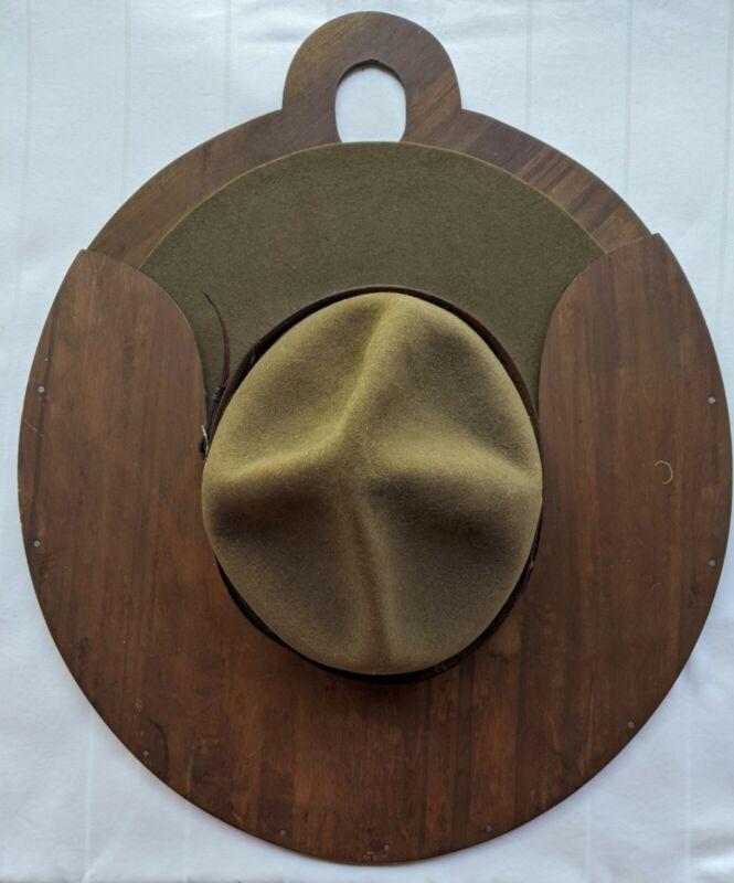 Vintage Sigmund Eisner BSA Campaign Hat with hat board. Good condition