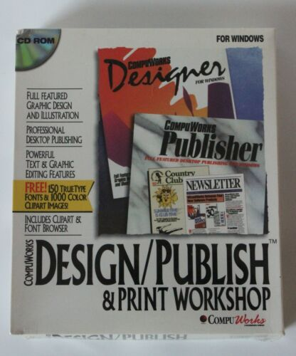 CompuWorks Designer for Windows Design Publish Print Workshop CD-ROM New Sealed
