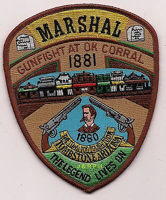 "*NEW*  Tombstone Marshal ""Legend Lives On"", AZ shoulder police patch (fire)"