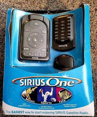 Sirius One Satellite Radio Receiver Remote Control Accessory Kit Brand New 2005