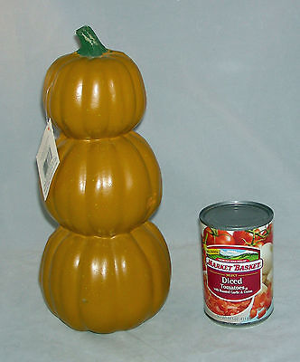 3 stacked Craft Pumpkin  - Carve once and have for years - Halloween New ](Carving Gourds For Halloween)