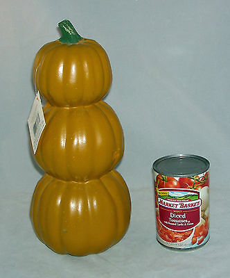3 stacked Craft Pumpkin  - Carve once and have for years - Halloween New - Gourds Crafts Halloween