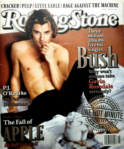 Rolling Stone magazine w/ NO LABEL BUSH Gavin Rossdale Issue 732 April 18, 1996