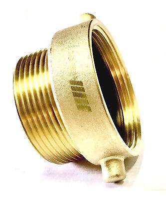 Nni Fire Hose Hydrant Pin Lug Adapter 2-12 Female Nst X 2-12 Male Npt