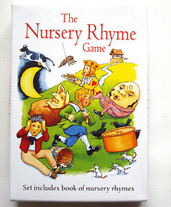 Nursery Rhyme Game - memory picture cards and book - preschool toddler game toy