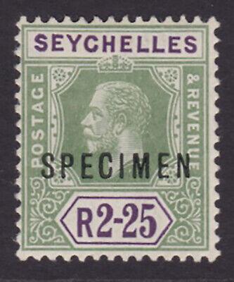Seychelles. 1918. SG 96s, 2.25r, specimen. Fine mounted mint.