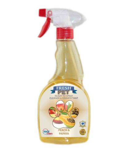 Fresh Pet Spray Cleaner Paw Friendly, kills 99.9% germs 500 ml - Peach & Papaya