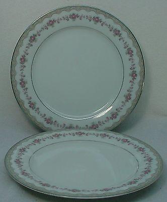 """NORITAKE china GLENWOOD 5770 pattern Dinner Plate - Set of Two (2) @ 10-1/2"""""""